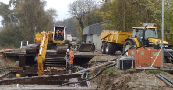 rioolwerken aanleg transport waterling