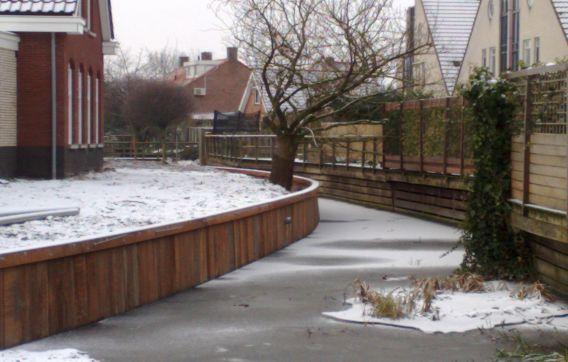 Gelderen rivier aanleg waterwerk waterwerken stutting winter