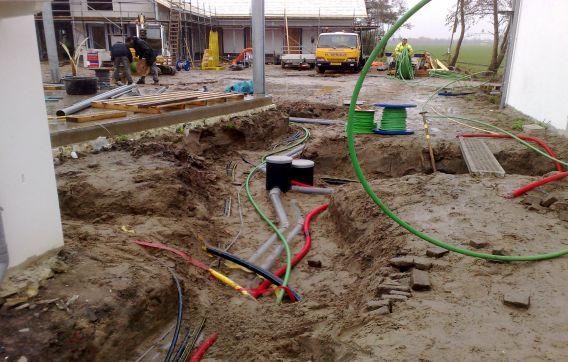 aanleg telecom kabels bekabeling