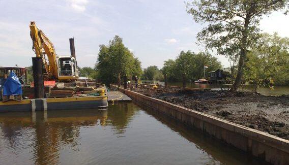 Beschoeiing Die Eiland Waterwerk Waterwerken