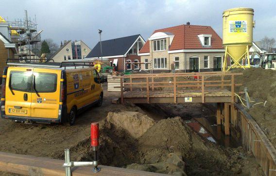 Gelderen brug aanleg hout grond