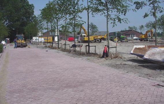 Straatwerk parkeergelegenheid Vreeland